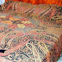 Wool Paisley Bed Cover Throws