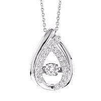 Dancing Diamond Pendant