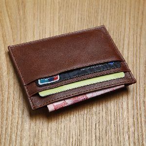 Real Leather Credit Card Case