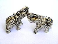 METAL ELEPHANT FIGURINES