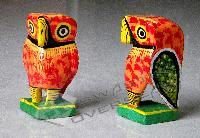WOOD OWL FIGURINE