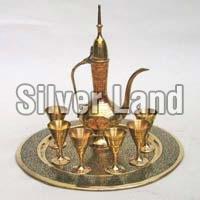Brass Antique Wine Set