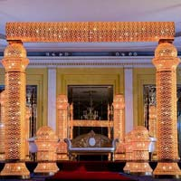 Ashika  Fiber crystal Wedding mandap