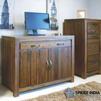 Hidden Home Office Wooden Sideboards