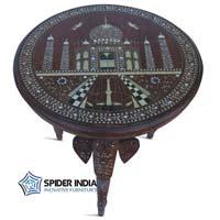 Indian Bone Inlay  Teak Wood Table