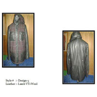Mens Leather Overcoat