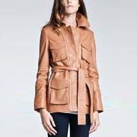 Womens Leather Overcoat