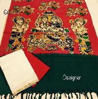 Dress With Pen Mangalgiri Cotton Dupatta