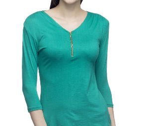 Ladies Viscose Lycra T-Shirts