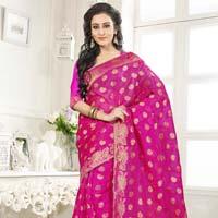 Divine Boutique Party Wear Pink Banarasi Silk Saree