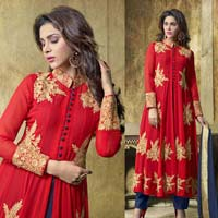Embroidered Georgette Party Wear Anarkali Suit