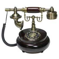 Wooden And Brass Telephone
