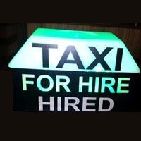 Rectangle Taxi Top Light