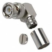 BNC male right angle crimp connector