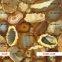 Brown Agate Semi-precious Gemstone Tiles & Slabs