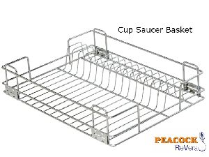 Stainless Steel Kitchen Cup And Saucer Basket