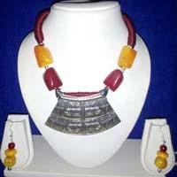 Handmade beaded neckpiece