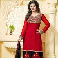 Hi Fashion Semi-Stitched Dress Material
