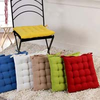 Solid Cotton Chair Pad