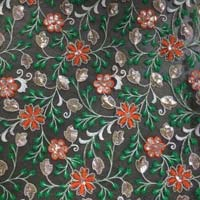 Thread Embroidered Georgette Fabric