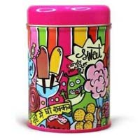 Printed Paper Tin Container