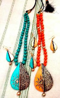 Terracotta Necklaces worn by women
