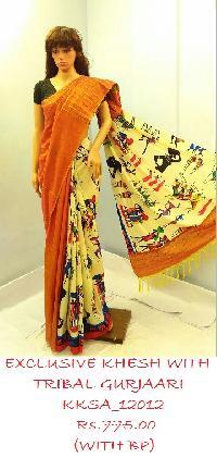 Wholesale Khesh GURJAARI Saree is a rage among fashion conscious peopl
