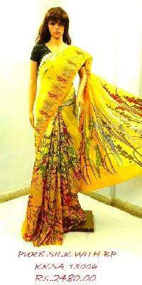 Wholesale Marvel Work Pure Silk Exclusive Saree