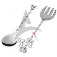 Bow Shaped Salad Server