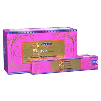 Satya Natural Rose Incense Sticks