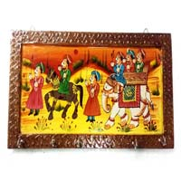 Wooden Rajasthani Painting Key Holder