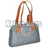 Nhsl 005 Leather Handle Silk Handbag