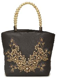 NHSB - 006 Pearl Bottom Silk Handbag