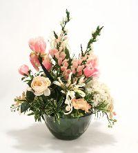 16246# -waterlook Pink Ivory Mixed Garden Floral Artificial Flower