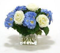 16260# - Waterlook Blue Primrose Ranunculus Artificial Flower