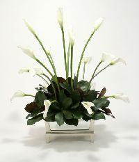 Cream-white Calla Lilies Mirrored Box