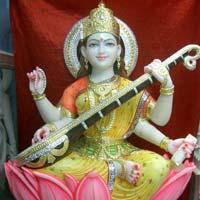 Saraswati Maa Marble Statues
