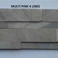 Multi Pink Slate Stone