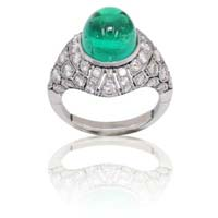 Emerald Studded Diamond Rings
