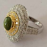 Natural Stone Studded Diamond Rings