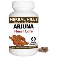 Natural Terminalia Arjuna Capsules / Arjuna Veg Capsules for Cholester