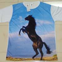 3d Effect Printed T-shirt, Sublimation T-shirt