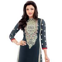 Shonaya Blue Colour Designer Embroidered Faux Georgette Semi Stiched Salwar Suit
