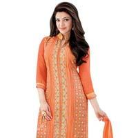 Shonaya Gray Designer Embroidered Faux Georgette Semi Stiched Salwar Suit