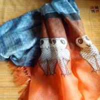 Hand Painted Tussar Dupatta
