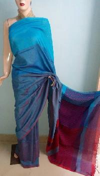 Soft Cotton Saree With Jamdani Pallu