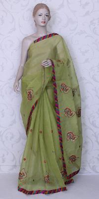 Silk Art Cotton Embroidered Sarees