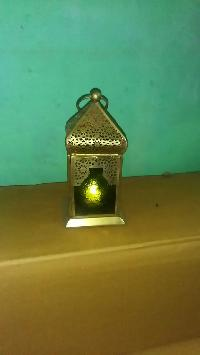 Brass Moroccan lantern candle