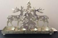 Iron Christmas Candle Stand