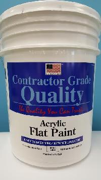 Acrylic Ext/int White Flat Paint